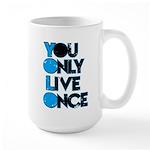 YOLO Blue Mugs