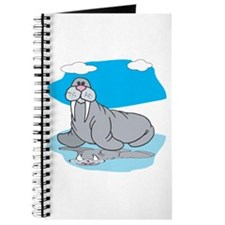 Cute Grey Walrus Journal