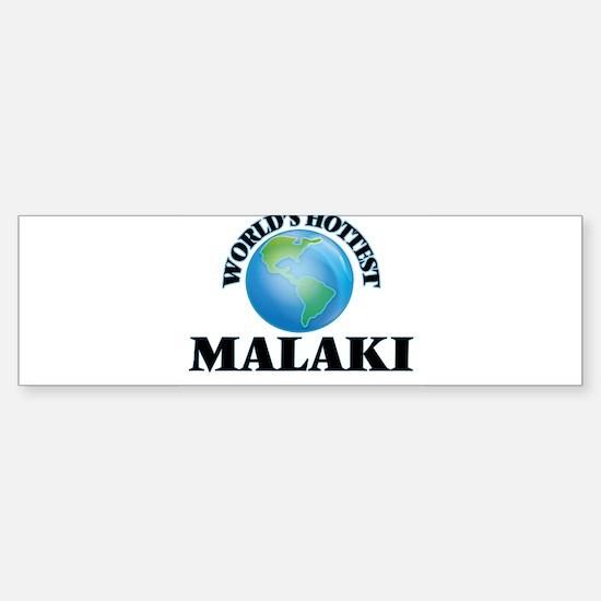 World's Hottest Malaki Bumper Car Car Sticker