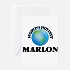 World's Hottest Marlon Greeting Cards
