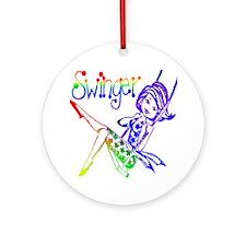 GLBT / LGBT Swinger Ornament (Round)