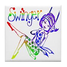 GLBT / LGBT Swinger Tile Coaster