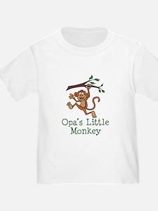 Opa's Little Monkey T-Shirt