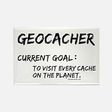 Geocacher Goals Rectangle Magnet