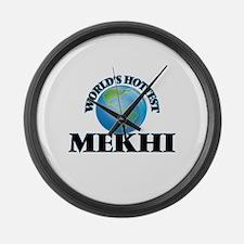 World's Hottest Mekhi Large Wall Clock