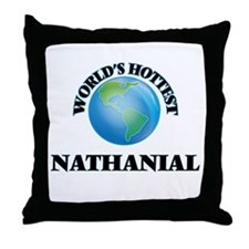 World's Hottest Nathanial Throw Pillow