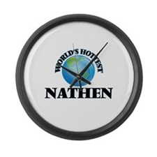 World's Hottest Nathen Large Wall Clock