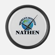 World's Hottest Nathen Large Wall Clock