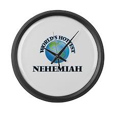World's Hottest Nehemiah Large Wall Clock