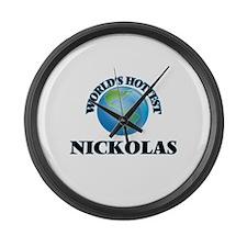 World's Hottest Nickolas Large Wall Clock