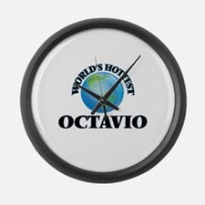 World's Hottest Octavio Large Wall Clock