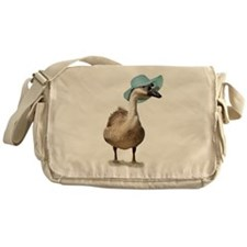 Beach Goose with Summer Hat Messenger Bag