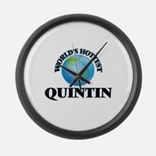 World's Hottest Quintin Large Wall Clock