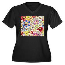murakami flowers Plus Size T-Shirt