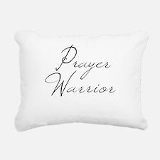 Prayer Warrior in black typography Rectangular Can