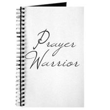 Prayer Warrior in black typography Journal