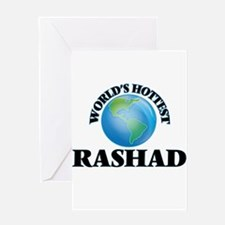World's Hottest Rashad Greeting Cards