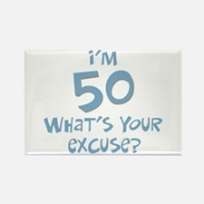 50th birthday excuse Rectangle Magnet