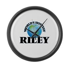 World's Hottest Riley Large Wall Clock