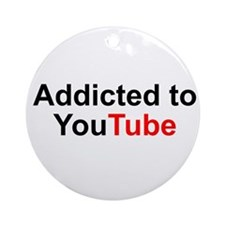 Unique Youtube Ornament (Round)