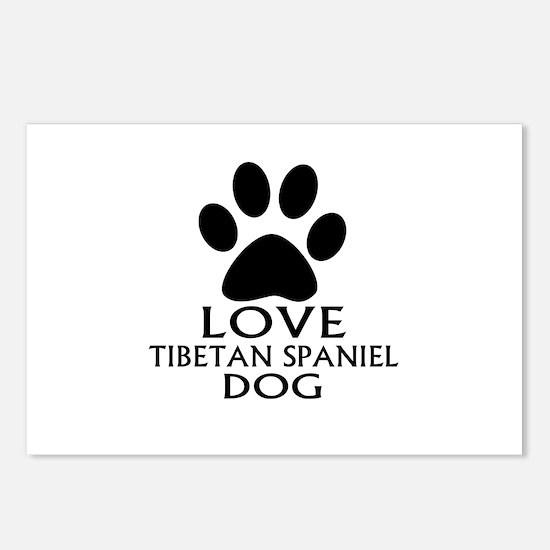 Love Tibetan Spaniel Dog Postcards (Package of 8)