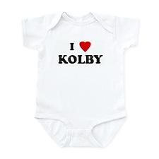 I Love KOLBY Onesie