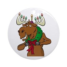 Laughing  Moose Ornament