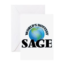 World's Hottest Sage Greeting Cards