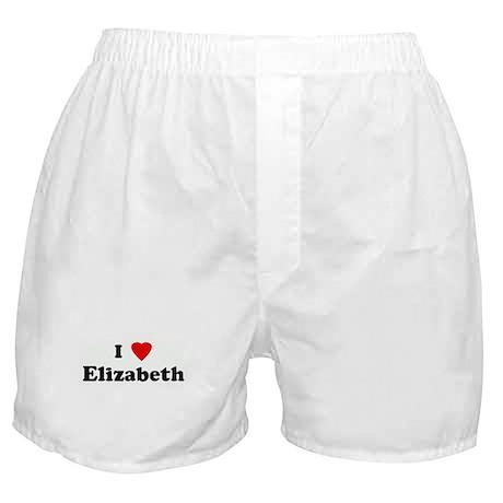 I Love Elizabeth Boxer Shorts