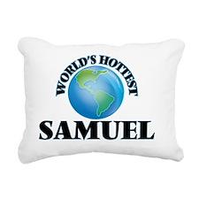 World's Hottest Samuel Rectangular Canvas Pillow