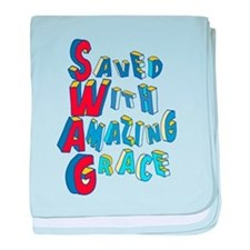 SWAG - saved with amazing grace baby blanket