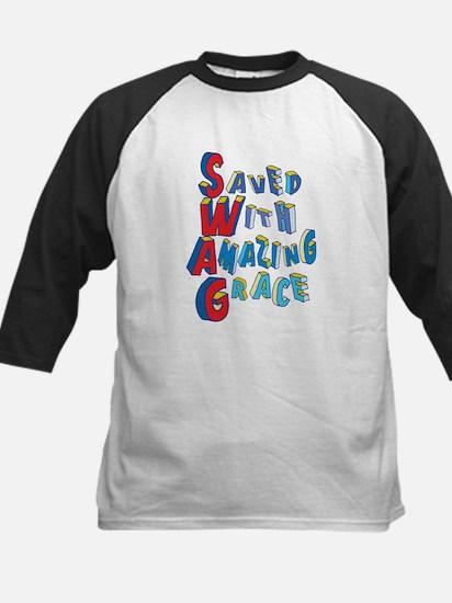 SWAG - saved with amazing grace Baseball Jersey