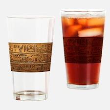 Hieroglyphs 2014-1020 Drinking Glass