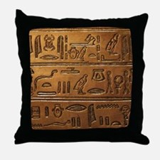 Hieroglyphs 2014-1020 Throw Pillow