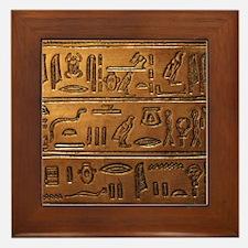 Hieroglyphs 2014-1020 Framed Tile