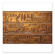 """Hieroglyphs 2014-1020 Square Car Magnet 3"""" x 3"""""""