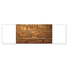 Hieroglyphs 2014-1020 Bumper Bumper Sticker
