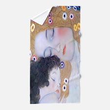 Klimt, Love Motherhood Beach Towel