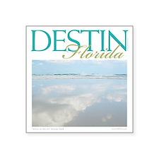 """Cute Destin beach Square Sticker 3"""" x 3"""""""