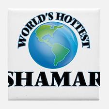 World's Hottest Shamar Tile Coaster