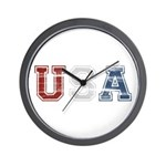 Distressed USA Country Logo Wall Clock