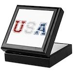 Distressed USA Country Logo Keepsake Box