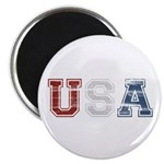 Distressed USA Country Logo Magnet