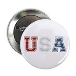 "Distressed USA Country Logo 2.25"" Button (100 pack"