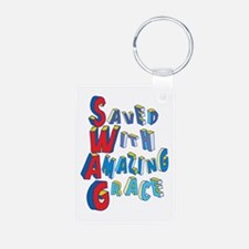 SWAG - saved with amazing grace Keychains