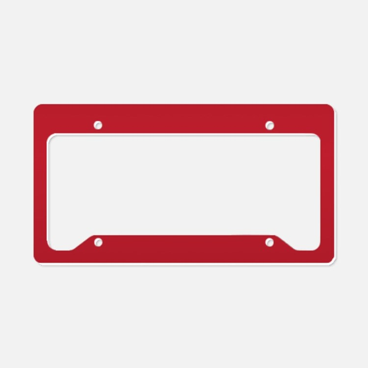 Cardinal Red Solid Color License Plate Holder