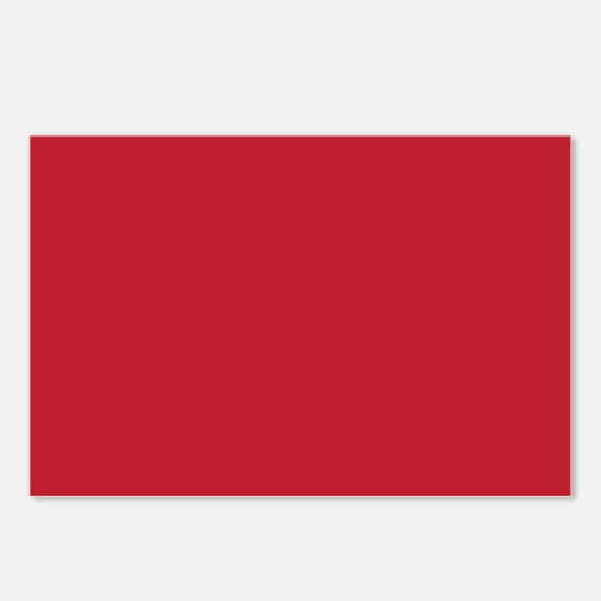 Cardinal Red Solid Color Postcards (Package of 8)