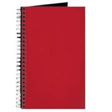 Cardinal Red Solid Color Journal