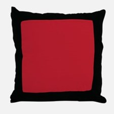 Cardinal Red Solid Color Throw Pillow