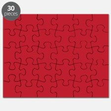 Cardinal Red Solid Color Puzzle